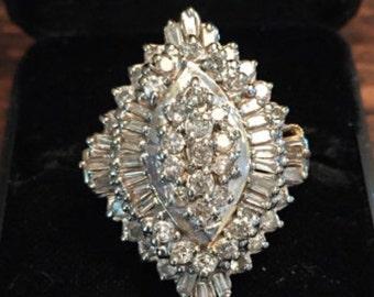 Vintage Diamond & 14k Gold Ring