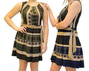 Aztec Casual Dress Well Made Cotton