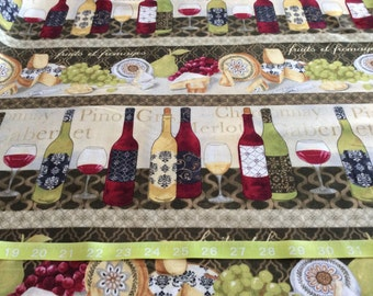 Timeless Treasure Wine and Cheese  fabric  by the half yard
