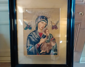 An Interesting Russian Icon Madonna and Child print