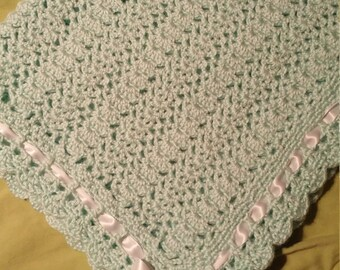 Beautiful Mint Green Baby Afghan