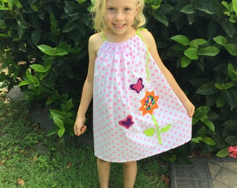 Easy fit girls summer dress in size 6