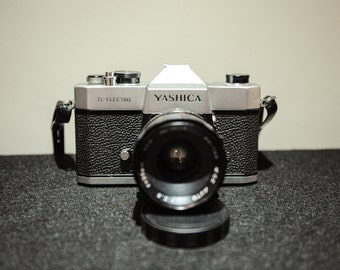 Vintage Yashica TL-ELECTRO 35mm Analogue SLR Camera Kit with two 50mm & 200mm lens - 1970's