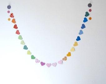 Party Garland,Multicolor Hearts Garland.