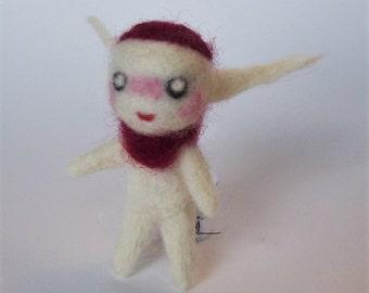 Miniature Felted Elf