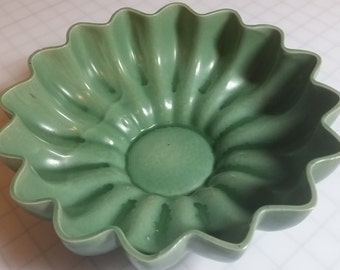 Red Wing Bowl, Green Pottery Bowl