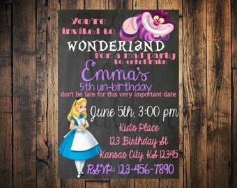 Alice In Wonderland Invitation Alice In Wonderland Birthday - Free birthday invitations alice in wonderland