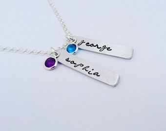 Family necklace, mothers necklace, mommy necklace, mom necklace, mother necklace, grandmother necklace, mom jewelry, birthstone necklace