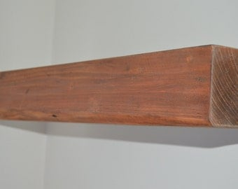 Chunky Rustic Floating Shelf Reclaimed Solid Wood 140 mm X 95 mm FREE SHIPPING!