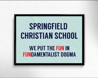Springfield Christian School A3 Poster