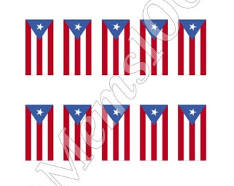 Puerto Rican Flag Nail Art water Decals! PR Flag Nail art!