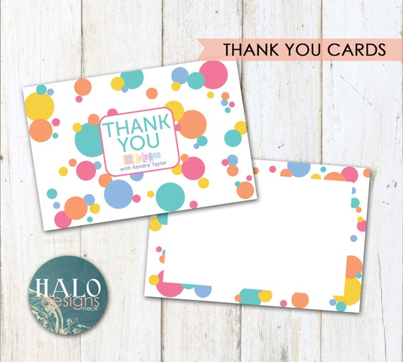 Lularoe thank you cards polka dots by halodesignsshop on etsy for Etsy lularoe business cards