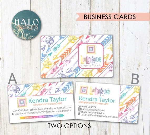 Lularoe business cards arrows by halodesignsshop on etsy for Etsy lularoe business cards