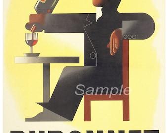Vintage Dubonnet Wine Advertising Poster Print