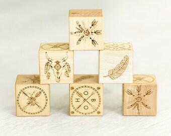 Wooden Blocks Boho Theme
