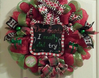 Dear Santa Wreath