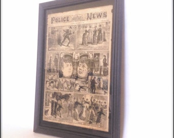 Aged Reproduction Victorian Police News Jack The Ripper cover 1