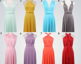 Set of 2 to 20 convertible wrap dress,long bridesmaid dresses,convertible bridesmaid dress,wrap dresses,infinity dresses