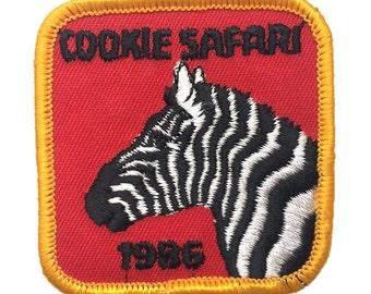 Zebra Cookie Safari 1986 Patch