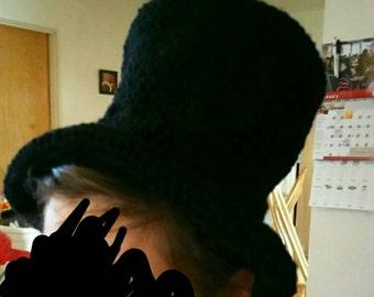 Custom Crochet yarn top hat any color any size