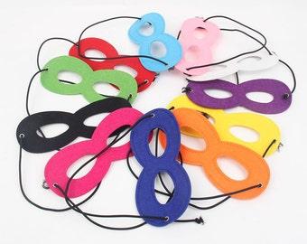 SALE! Set of 10 Kids Superhero Masks, Felt Masks Party Pack, superhero party, kids dress up mask, superhero mask,party favors