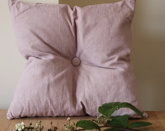 Dusky Pink Linen Cushion