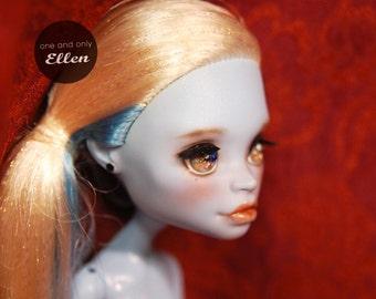 OOAK monster high doll 'Abbey Bominable' repainted