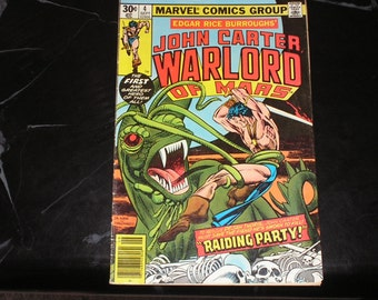 John Carter Warlord Of Mars #4 1977 Raiding Party Good Condition