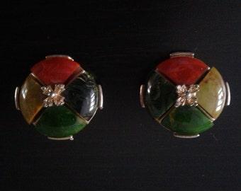 Vintage Scottish agate earrings