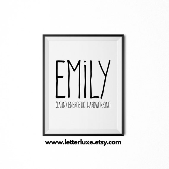 Emily Name Meaning Art