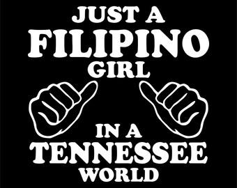 "Just a Filipino Girl in a ""CUSTOM"" World, Ladies t-shirt"
