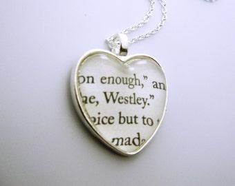 """The Princess Bride I heart """"Westley"""" Necklace"""