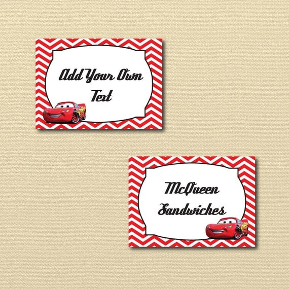 Lightning McQueen Party Printables printable Cars labels Disney