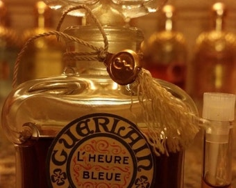 Guerlain Vintage L'Heure Bleue Parfum Extrait 0.5ml or 1ml Sample Perfume