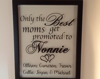 Personalized Frame, Grandma Gift, Name Sign, Grandparents, Picture Frame, Mothers day, Mothers day gift, mother's day, Grandparent Gift,