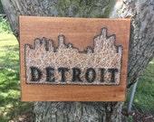 Arte de cadena horizonte Detroit centro hechos a medida (
