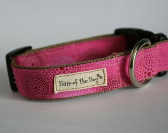 Hair of the Dog Collars- Bright Pink with swirls