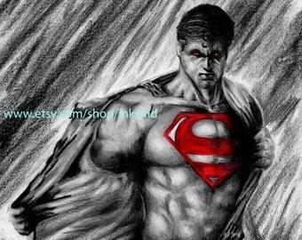 Superman Batman vs Superman DC comics A3 art print