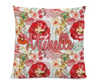 Name Pillow - Monogram Pillow - Personalized Pillow - Pillow with Name - Custom Throw Pillow