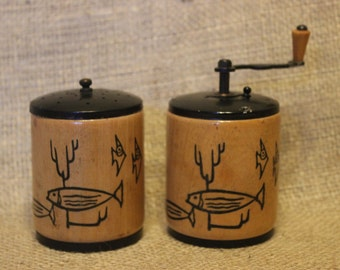 Vintage Wooden Salt & Pepper