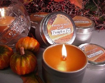 6 oz Travel Tin Candles-Pumpkin Pie 6 Pack