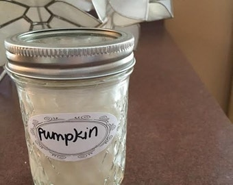 Natural Soy 8 oz Mason Jar Candle - Pumpkin Scented FOR A CAUSE