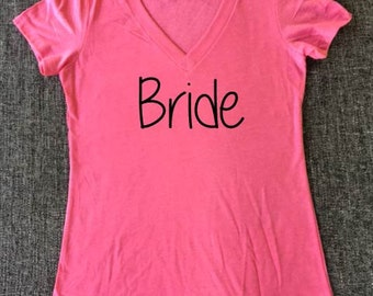 Bride shirt, bridesmaid shirt, bachelorette shirt, wedding party shirts, wedding party