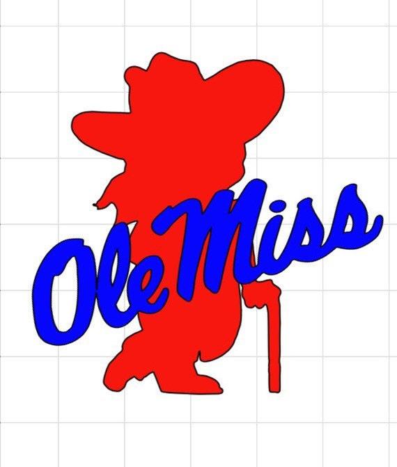 Ole Miss Rebel Vinyl Decal