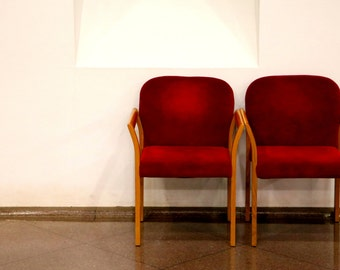 Photo Print, Red Chairs
