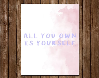 Rupi Kaur Poetry Quote Watercolor Printable Instant Download