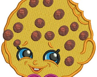 Kooky Cookie Shopkins Inspired PES Embroidery Design