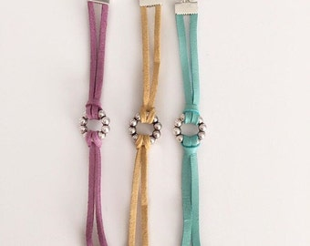 Charm leather bracelet