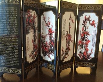 Ceramic Chinese folding screen
