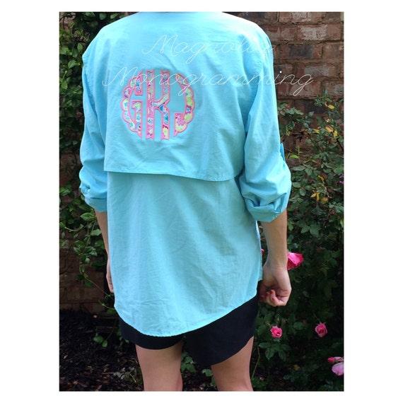 Bimini bay womens fishing shirt by monogrammingmagnolia on for Womens fishing shirt